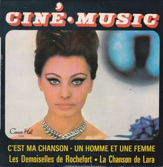 Sophia Loren - Nice collection about Sophia Loren - 6x photo, 1x record, 1x brochure, 1x sheet music, 1x French poster and 2x magazines