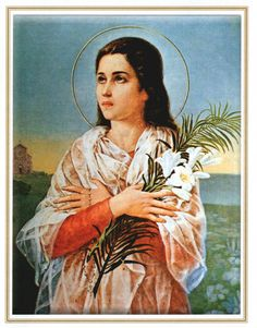 """whiskeypapist: """" July 6 is the feast day of Saint Maria Goretti,a young girl was canonized after her death at 11 years old. Virgin and martyr, Goretti was stabbed numerous times after refusing the..."""