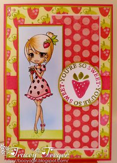 Strawberry Girl by Jessica for Spesch Designer Stamps Tracey Feeger: Spesch stamps