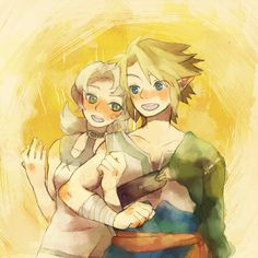 Iria and Link (from Zelda : Twilight Princess) friends couple