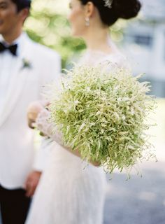 How different is this simple bouquet comprised entirely of astilbe? It was imagined up by Atelier Joya.