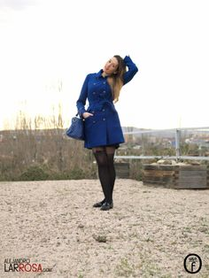 Blue Klein Coat   One Use Fashion