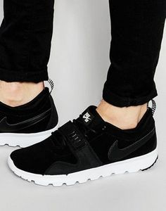 Buy Nike Sb Trainerendor Leather Trainers In Black at ASOS. Get the latest trends with ASOS now. Nike Skateboarding, Nike Sb, Best Brand, Lacoste, Real Leather, Black Nikes, Reebok, Tommy Hilfiger
