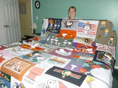 snoopy queen-size t-shirt quilt.