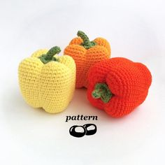 Make yourself a peck of peppers with this crochet pattern! This crochet pepper is intended to be as lifelike as possible, with a gentle tapering body and naturalistic bulgy top. For an approximately 9cm or 3½ tall pepper you will need: • 30m (32yards) of double-knitting (DK, light