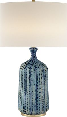 Aerin Culloden table lamp in pebbled aquamarine
