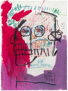 "Manufactoriel: ""Bez tytułu (Bluto Nero) 1982, Jean Michel Basquiat"""