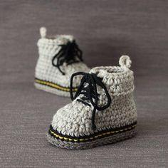 Crochet PATTERN Martens style booties