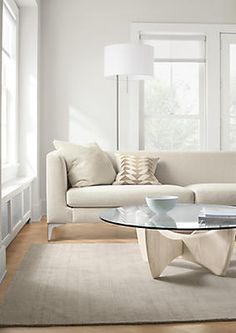 Sterling Sofa with Sanders Cocktail Table - Modern Living Room Furniture - Room & Board
