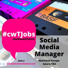Social Media Manager to join a pioneering Global Sports Apparel Brand based in Mainland Europe.   Reporting to the Global PR & Social Media Director you will be crucial in developing this brands' social media strategy to encourage consumer excitement for past, present and future products and releases.   To apply, click here: http://www.clockworktalent.com/digital-marketing-jobs/view/social-media-manager-mainland-europe-TBA