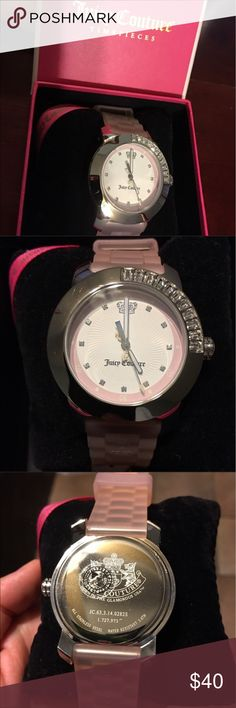 Juicy couture watch Juicy couture watch. New with tags. The battery needs to be replace. It also has a small scratch on the back. Juicy Couture Jewelry