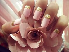 Pink French Nail