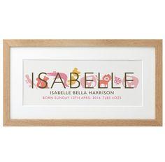 Personalised Children's Name Print | GettingPersonal.co.uk