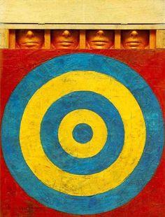 Jasper Johns, Target with Four Faces - 1958 on ArtStack #jasper-johns-1 #art