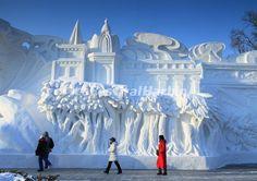 harbin china snow sculptures