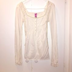 ⭐️Free people top Super soft and cute cotton blouse from free people.  Free People Tops Tees - Long Sleeve