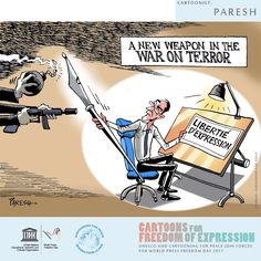 'Cartoons for Freedom of Expression' ahead of World Press Freedom Day celebrations (3 May)