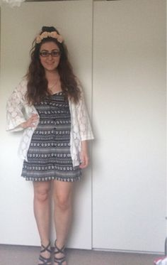 #25:  H&M kimono & dress, Primark flower crown