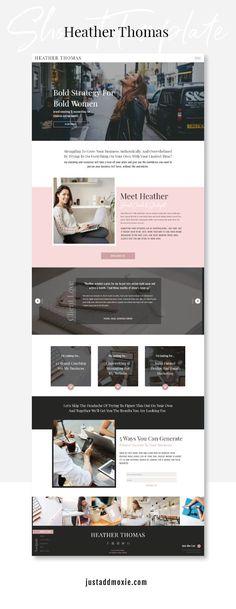A Website Creation Guide For Creating Spectacular Compelling Websites Website Design Inspiration, Blog Design, Design Web, Portfolio Design, Heather Thomas, Coach Website, Website Layout, Website Ideas, Website Designs