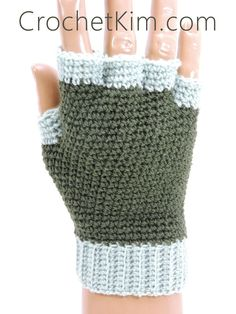 "Add this project to your Ravelry favorites HERE  To print or convert to PDF click the green ""Print Friendly"" button below the pattern.   Jersey Mitts Fingerless Gloves for Men designed by Kim Guzman © Nov. 2015 Email to kim@crochetkim.com Please read my Terms of Use Technique: Regular Croch"