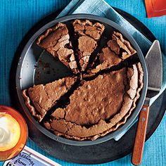 Mississippi Mud Pie  Be warned, you may be tempted to eat this pie right out of the oven. Instead, cool it off with a little vanilla ice cream before indulging.