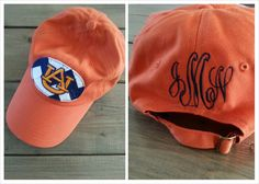 College Football Monogrammed Hat by LetItBeBoutique on Etsy, $20.00 but Georgia :)