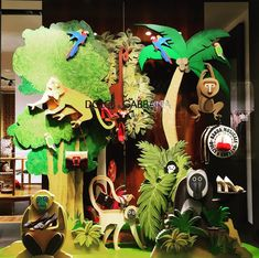 "DOLCHE&GABBANA, Via Della Spiga, Milan, Italy, ""Someone is in Tropical Paradise"", pinned by Ton van der Veer"