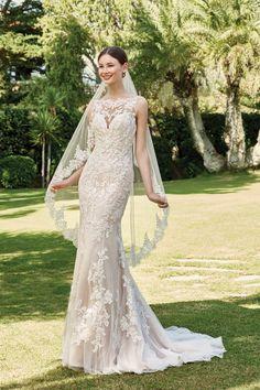 Sincerity Bridal Sincerity Bridal, Illusion Neckline Wedding Dress, Wedding Dress Necklines, Designer Wedding Dresses, Wedding Gowns, Modest Wedding, Bridal Gowns, Sabrina Neckline, Justin Alexander Bridal