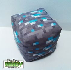 NEW!!! Minecraft Inspired Diamond ore plush toy! on Etsy, $5.99 CAD
