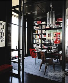Designed by Mark Cunningham, Hana Soukupova's apartment
