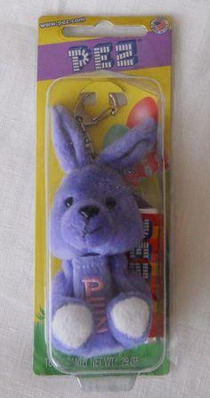Rabbit Pez Dispenser Key Chain Bunny Candy New Purple