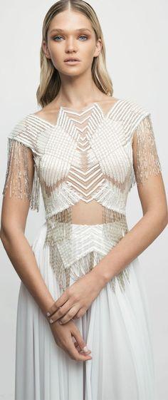 Bridal Cap sleeves sexy top a line wedding dress lior charcy nyc 2017 #wedding #weddingdress #weddinggown #bridaldress