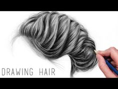How to Draw Realistic Hair with Graphite Pencils | Drawing Tutorial Step by Step - YouTube