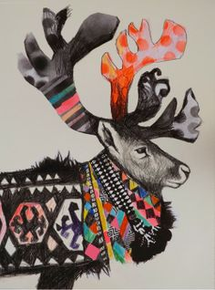 A colorful reindeer, why not. Emma Gale