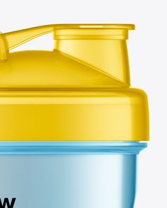 Clear Shaker Bottle Mockup. Preview (Close-Up)