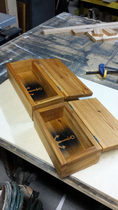 Cigar style boxes.