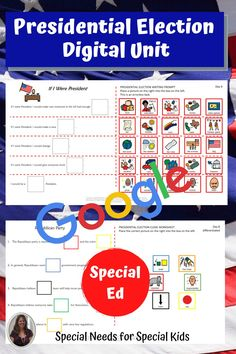 This unit on the presidential election 2020 has 175 pages, 46 google slides and a 12 day lesson plan. It was created for students with autism and special learning needs in middle and high school. It has a book, vocabulary, activities, and assessment. Activities have a digital version for google classroom. #specialneedsforspecialkids #specialeducation #specialed #election #republicans #democrats #usgovernment #presidentialelection #presidentialelection2020 #election2020 #distancelearning Vocabulary Cards, Vocabulary Activities, Class Activities, Teaching Social Studies, Student Teaching, Presidential Election Process, Special Education Classroom, Google Classroom, High School Students