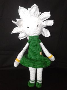 Water Lily Winnie flower doll made by Viola RR - crochet pattern by Zabbez