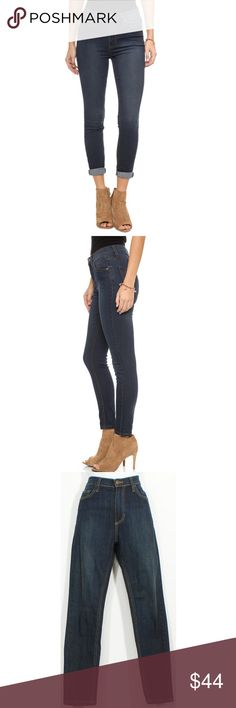 """Cane Wash Stretch Roller Skinny Crop Cropped Jeans These stretch denim crop jeans rock a mid rise and a slim, straight leg. They have classic blue wash with light sanding through the leg, belt-loop waistband, contrast stitching, zippered fly with button closure, and classic five-pocket construction. 98% Cotton, 2% Spandex. Machine Wash. Color: Cane Blue Wash. Size: 28, Waist - 29"""", Hips - 35"""", Inseam - 26.5"""", Rise - 9.5"""", Leg opening - 11"""" Free People Jeans Ankle & Cropped"""