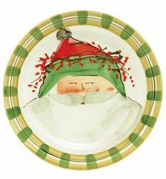 Vietri Old St. Nick Dinner Plate - Green by VIETRI. $59.00