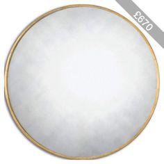 Uttermost junius round gold mirror - 13887