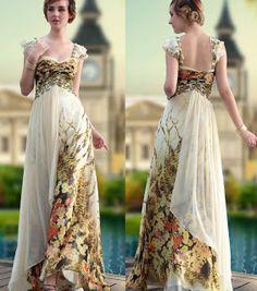 unique floral print wedding dresses