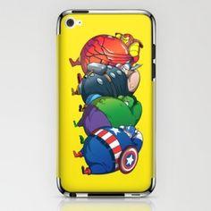 funny fatvengers marvel avengers ipod skin