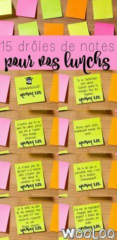 Voici quelques notes drôles et sarcastiques pour s'amuser dans la corvée de lunchs