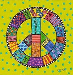 Love the details in this Peace Sign. Ashlie Terry shine down on me..