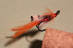 Salmon Fly/Own Orange Shrimp/Made By Vesa Ronkainen