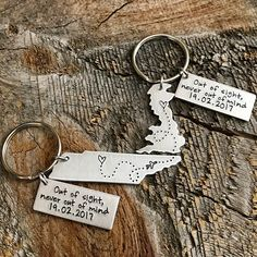 Long Distance Relationship Gift Boyfriend Gift Girlfriend Gift Going Away Gift Best Friends Gift State Keychain Long Distance Boyfriend Gift by TheLonelyMoose on Etsy