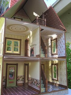 1000 ideas about victorian dollhouse on pinterest doll for Victorian style kit homes