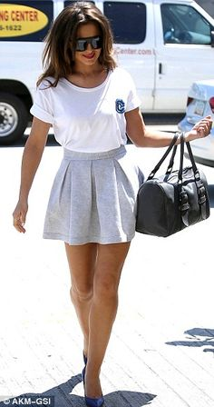 Cheryl Cole - such a cute, simple and feminine style! Love this!