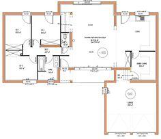 plan maison 4 chambres chambres 1 plans maison vue rdc tage vue maison brico petite maisons inspiration maison construire - Plan Maison Etage 4 Chambres 1 Bureau